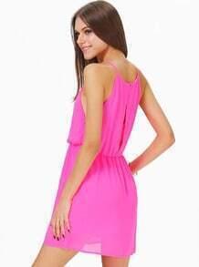 Rose Red Off the Shoulder Back Split Dress