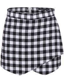 Black White Plaid Skirt Shorts
