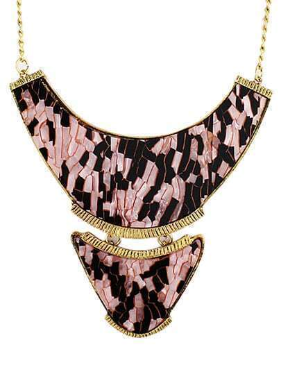 Gold Geometric Collar Chain Necklace