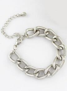 Fashion Silver Chain Link Bracelet