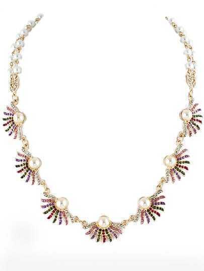 Gold Bead Diamond Necklace