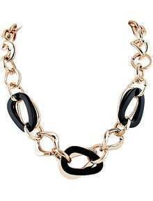 Black Gold Chain Necklace
