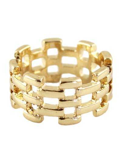 Fashion Gold Hollow Ring