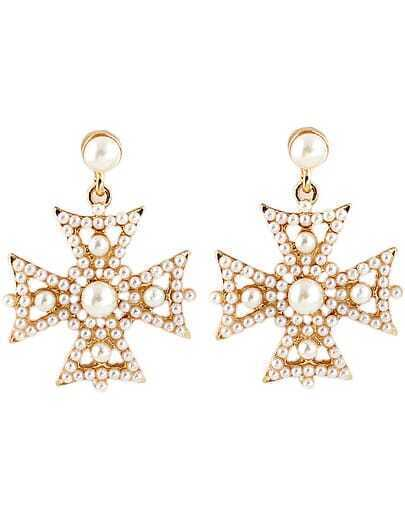 Gold Bead Hollow Earrings