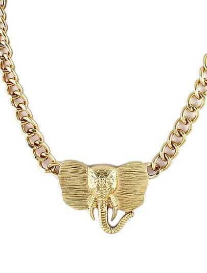 Gold Elephant Chain Necklace