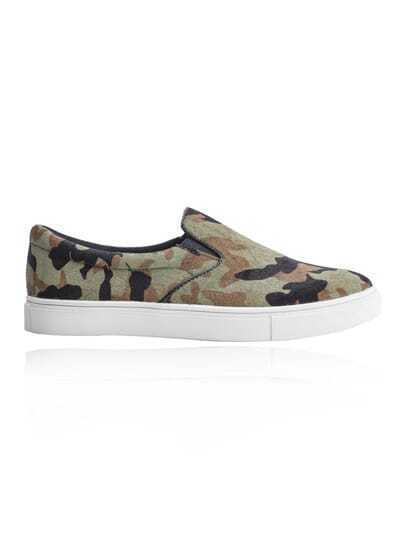 Army Green Camouflage Canvas Shoes