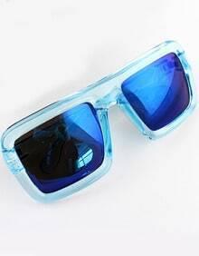 Blue Lenses Sheer Rim Sunglasses