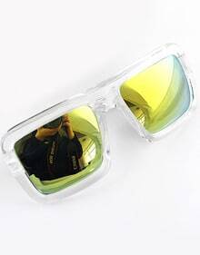 Yellow Lenses Sheer Rim Sunglasses
