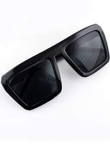 Black Lenses Square Frame Sunglasses
