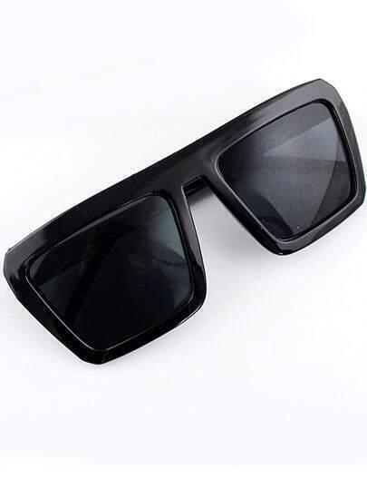 Black Lenses Square Frame Sunglasses