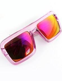Red Lenses Sheer Rim Sunglasses