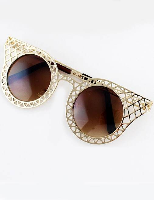 Gold Hollow Cool Sunglasses