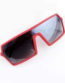 Red Enclosure Style Sunglasses