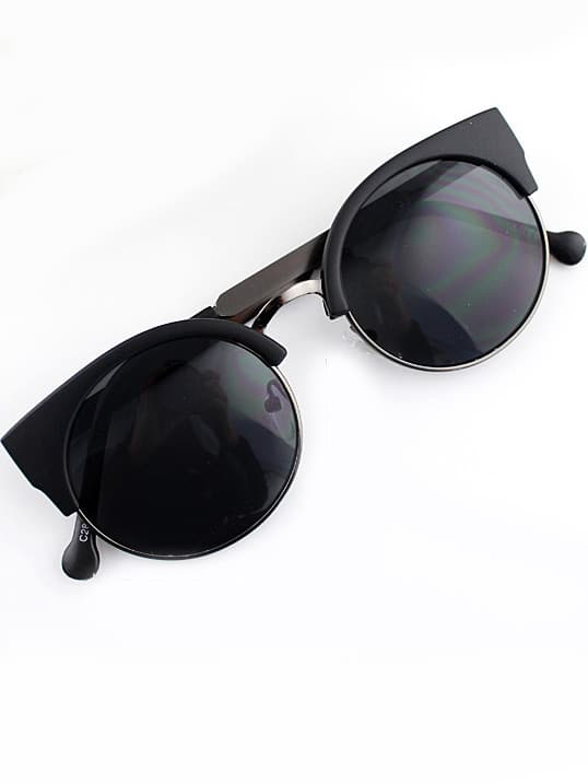Black Cat Eyed Sunglasses