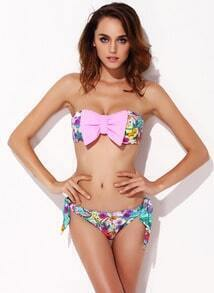 bellished Strapless Bandeau Bikini