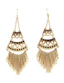Gold Glaze Tassel Earrings