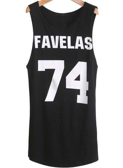 Black Sleeveless FAVELAS 74 Print Dress