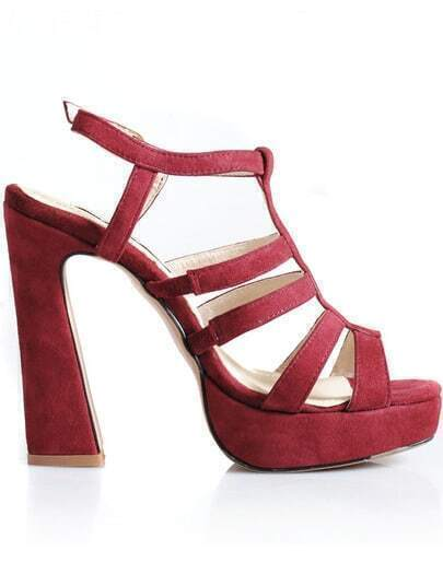 Red Hollow High Heel Shoes