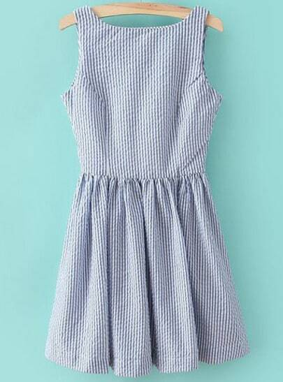 Sleeveless Striped Dresses