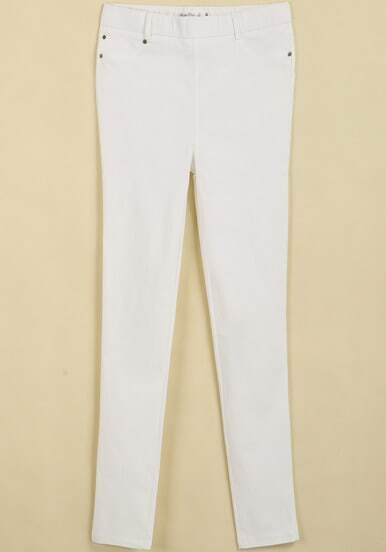 White Pockets Slim Pant