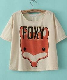 Apricot Short Sleeve FOXY Print T-Shirt
