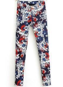 Blue Pockets Vintage Floral Pant