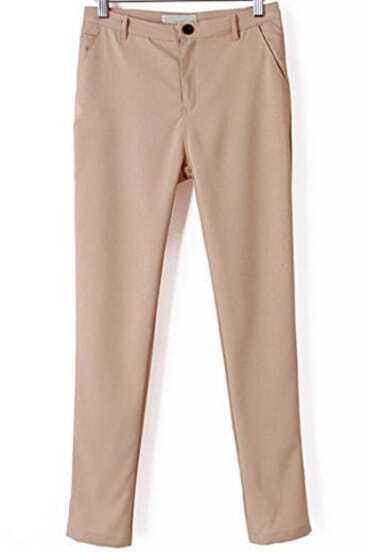 Apricot Casual Pockets Slim Pant