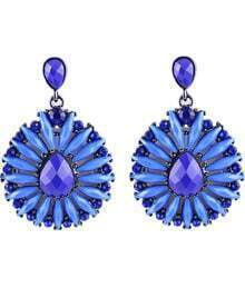 Blue Gemstone Silver Fashion Earrings