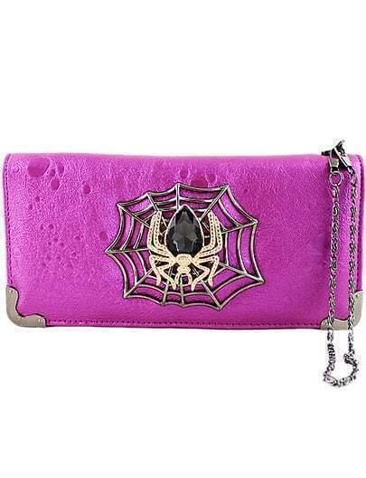 Clutch araña metal-rosa