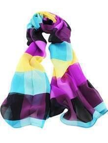Blue Contrast Purple Fashion Scarves