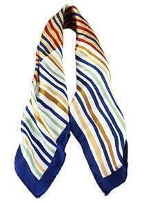 Blue Green Stiped Fashion Scarves