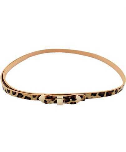 Neon Leopard Bow Belt