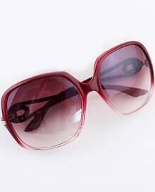 Fashion Red Gradients Square Sunglasses