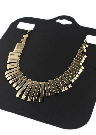 Gold Tassel Collar Necklace