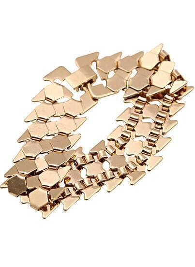 Fashion Gold Geometric Bracelet