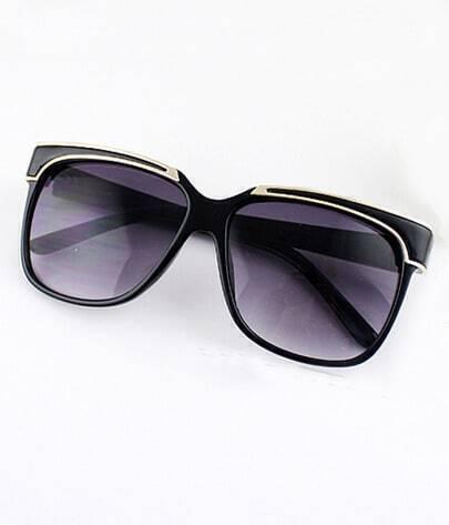 Fashion Black Rim Purple Sunglasses