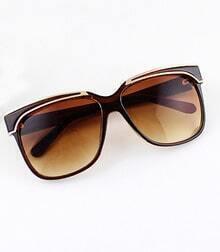 Brown Rim Yellowe Sunglasses