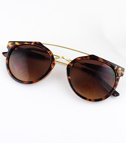 Фото Leopard Rim Brown Sunglasses. Купить с доставкой