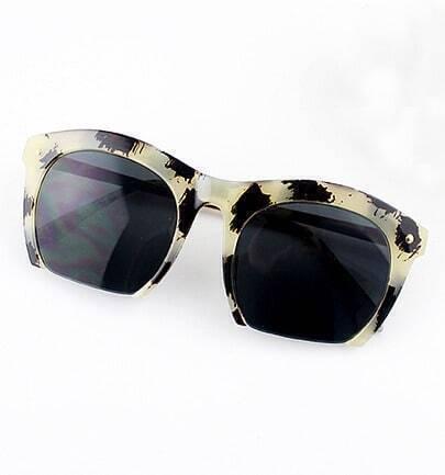 Leopard Rim Black Lenses Sunglasses