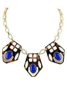 Multi Gemstone Gold Chain Necklace