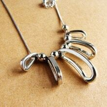 Silver Metal Chain Necklace