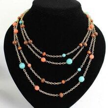 Multi Beading Gold Chain Necklace