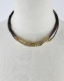 Gold Bead Chain Necklace