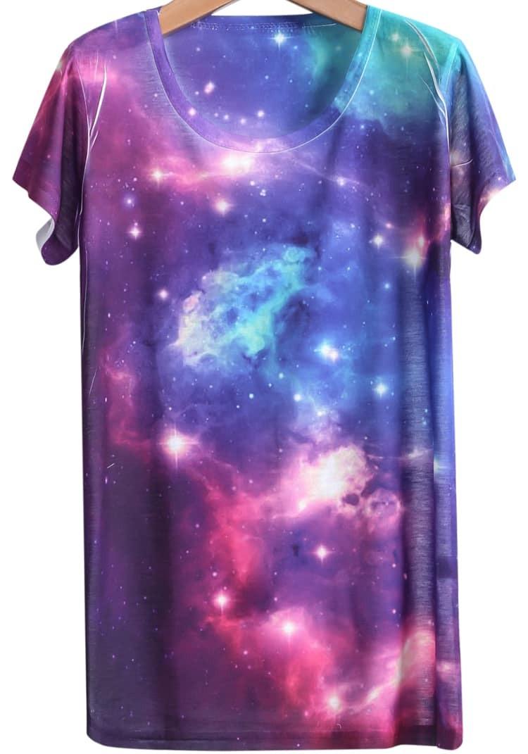 Galaxy White t Shirt Galaxy Print T-shirt