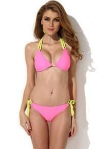 Pink Triangle Top with Classic Cut Bottom Bikini