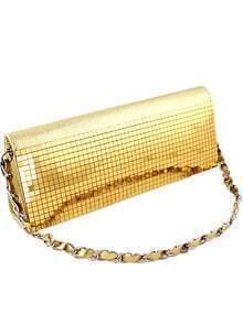 Gold Metal Embellished Clutch Bag