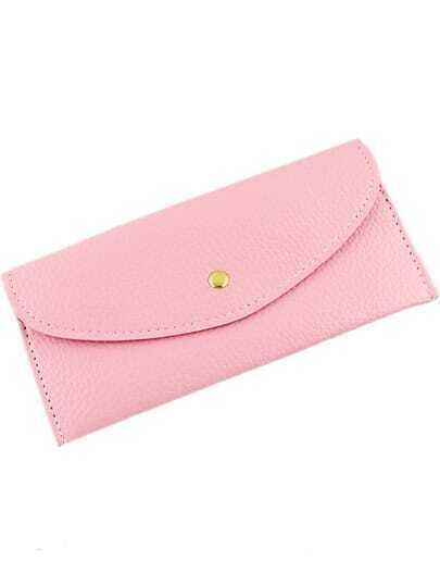 Pink Fashion Envelope PU Clutch Bag