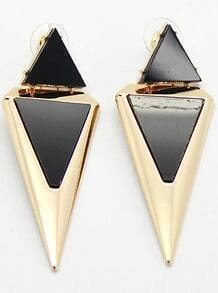 Fashion Gold Triangle Earrings
