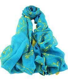 Blue Fashion Floral Scarves