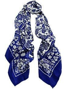 Royal Blue Vintage Floral Scarves
